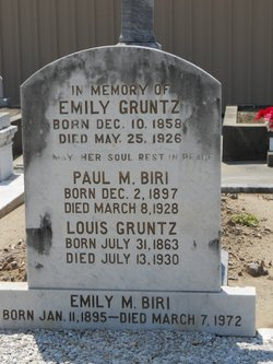Emily Marie <i>Gruntz</i> Biri
