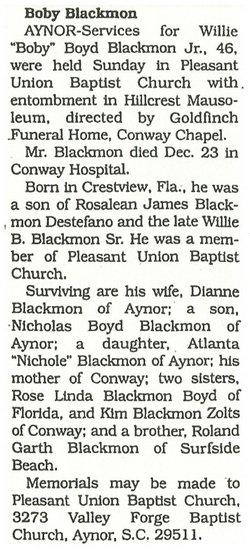 Willie Boyd Boby Blackmon, Jr
