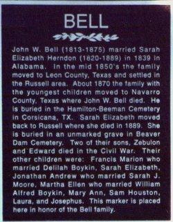 Sarah Elizabeth <i>Herndon</i> Bell