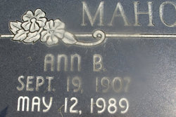 Ann <i>Bond</i> Mahoney