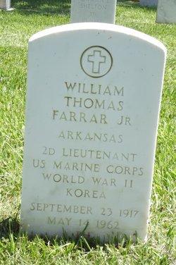 Lieut William Thomas Farrar, Jr