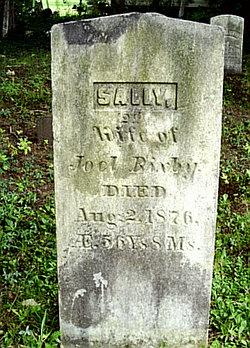 Sally <i>Tillotson</i> Bixby