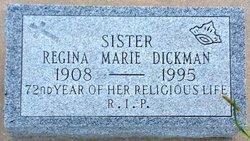 Sr Regina Marie <i>Dickman</i>