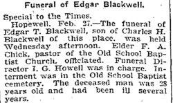 Edgar T Blackwell