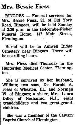 Bessie E. <i>Hockenbury</i> Fiess
