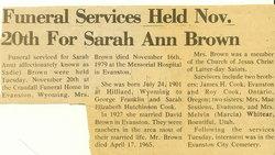 Sarah A. Brown