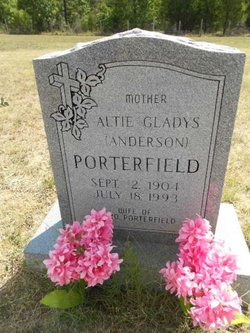 Altie Gladys <i>Anderson</i> Porterfield