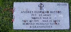 Pvt Andres Eulogio Tito Bustos