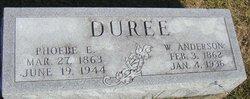 Phoebe Elizabeth <i>Utterback</i> Duree