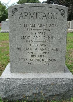 Mary Ann <i>Wood</i> Armitage