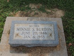 Minnie Susan <i>Curry</i> Burton