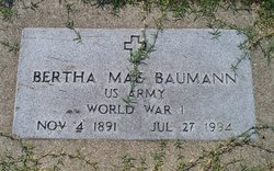 Bertha M. <i>Beeman</i> Baumann