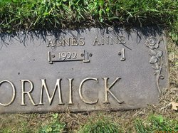 Agnes Anne <i>Blackbourne</i> McCormick