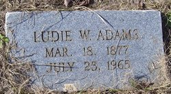 Ludie W Adams