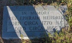 Rev Ephraim Hendrix