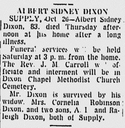 Albert Sidney Dixon
