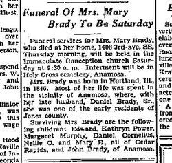 Mary <i>Coakley</i> Brady