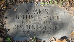 Phyllis Irene <i>Taylor</i> Adams