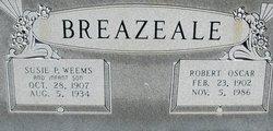 Susie Pauline <i>Weems</i> Breazeale