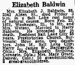 Elizabeth Jane <i>Watson</i> Baldwin
