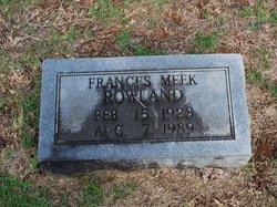 Frances Francis <i>Meek</i> Rowland