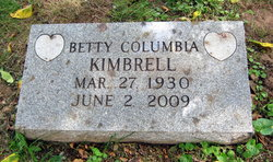 Mrs Betty F <i>Columbia</i> Kimbrell