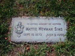 Mattie <i>Newman</i> Sims