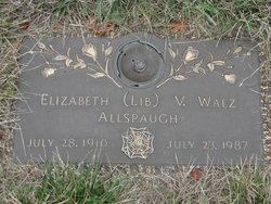 Elizabeth V (Lib) <i>Walz</i> Allspaugh