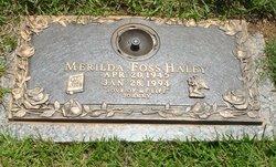 Merilda Foss <i>Allman</i> Haley