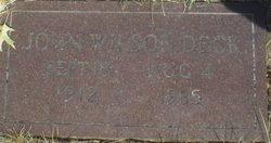 John Wilson Deck
