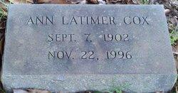 Ann <i>Latimer</i> Cox