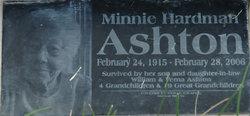 Minnie Louise <i>Hardman</i> Ashton