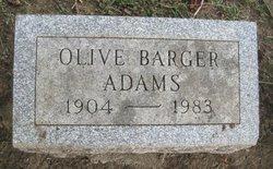 Olive <i>Barger</i> Adams