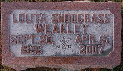 Dr Lolita <i>Snodgrass</i> Weakley