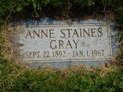 Anne <i>Staines</i> Gray
