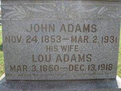 Mrs Margaret Lucinda <i>Cook</i> Adams
