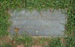 Bessie Sue <i>Biggs</i> Aldridge