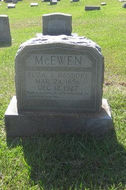 Eliza A <i>Rasbury</i> McEwen