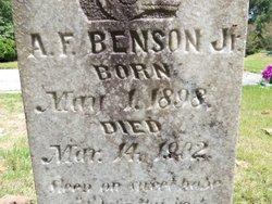 Alfonzo F Benson, Jr