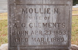 Mollie N Mary <i>Stewart</i> Clements