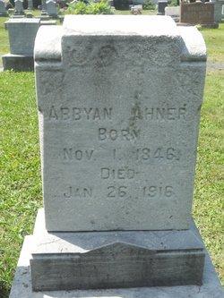 Abigail Anna Abby <i>Kibler</i> Ahner