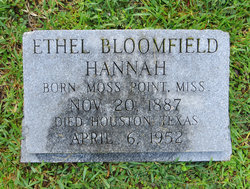 Ethel <i>Bloomfield</i> Hannah