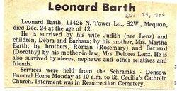 Leonard Barth