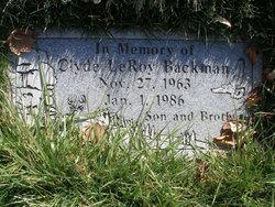 Clyde LeRoy Backman