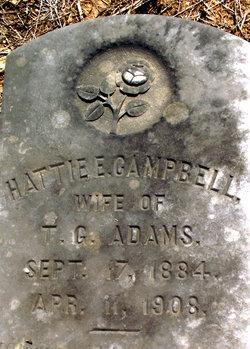 Hattie E <i>Campbell</i> Adams