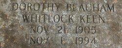 Dorothy Whitlock <i>Beacham</i> Keen