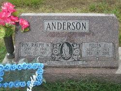 Rev Ralph W Anderson