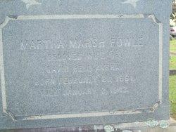 Martha Barnet Marsh <i>Fowle</i> Avera