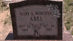 Mary Agnes <i>Montoya</i> Abel