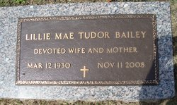 Lillie Mae Lil <i>Tutor</i> Bailey